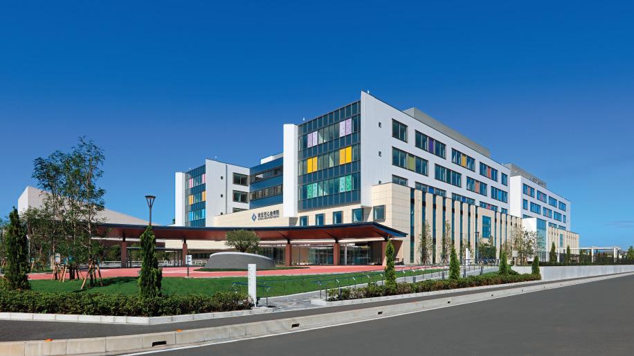 新たな病院の外観